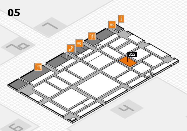 boot 2018 hall map (Hall 5): stand B22