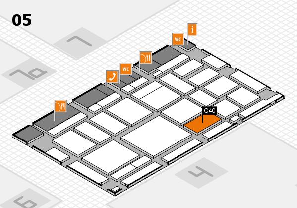 boot 2018 hall map (Hall 5): stand C40