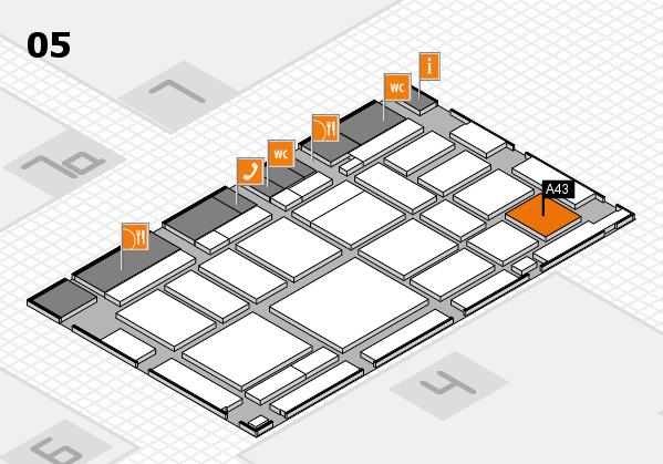 boot 2018 hall map (Hall 5): stand A43