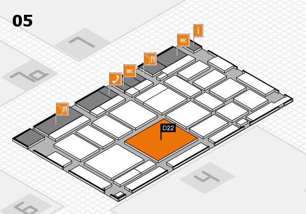 boot 2018 hall map (Hall 5): stand D22