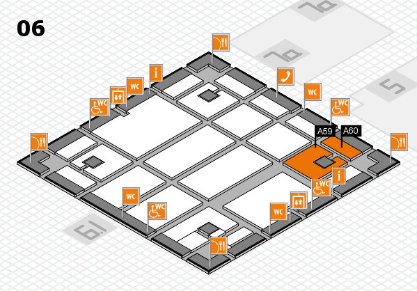 boot 2018 hall map (Hall 6): stand A59, stand A60