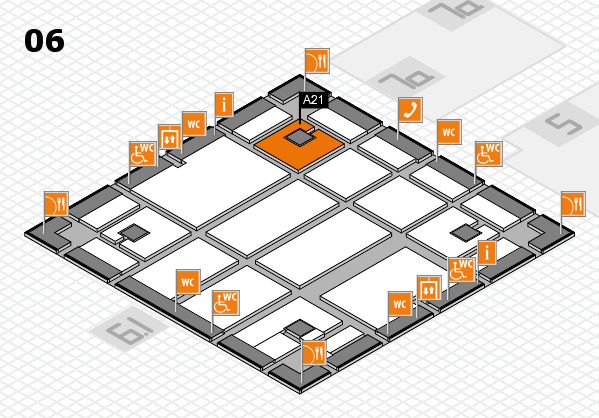 boot 2018 hall map (Hall 6): stand A21