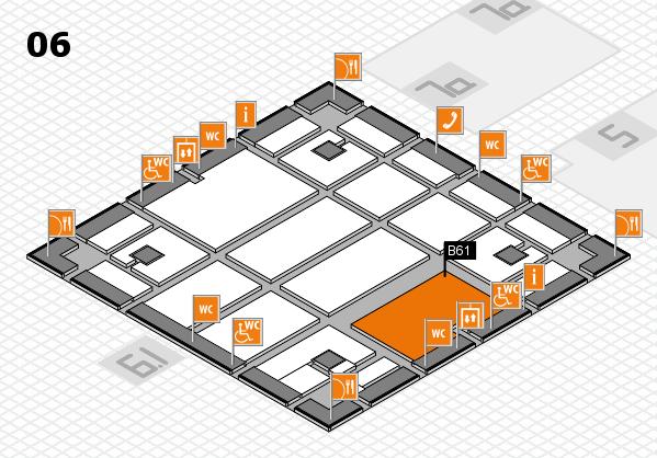 boot 2018 hall map (Hall 6): stand B61