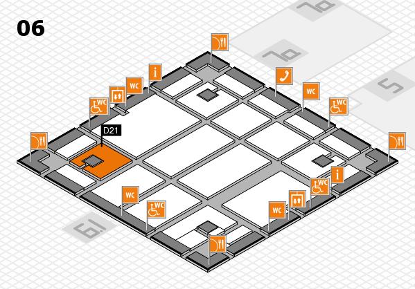 boot 2018 hall map (Hall 6): stand D21