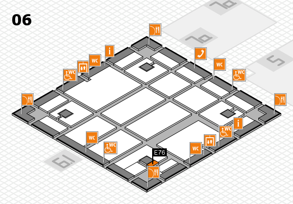 boot 2018 hall map (Hall 6): stand E76