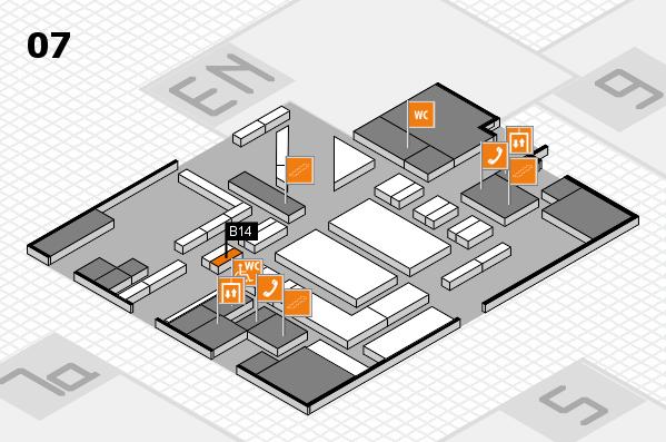boot 2018 hall map (Hall 7): stand B14