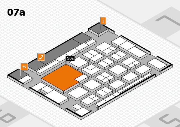 boot 2018 hall map (Hall 7a): stand G08
