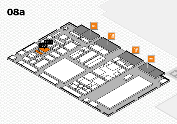 boot 2018 hall map (Hall 8a): stand E80, stand F80