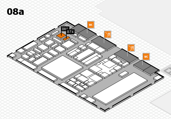 boot 2018 hall map (Hall 8a): stand B74, stand B80