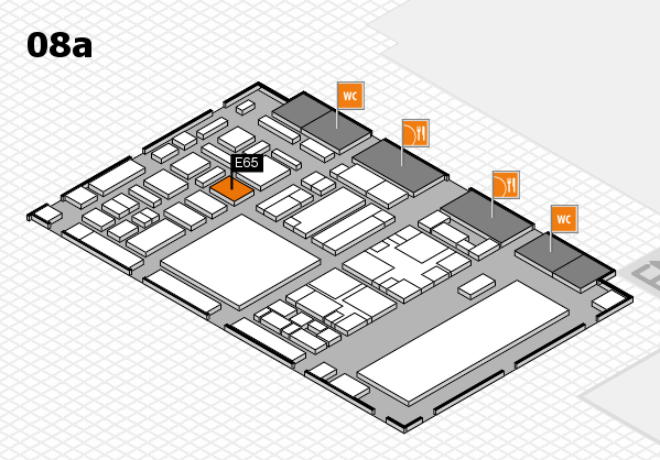 boot 2018 hall map (Hall 8a): stand E65, stand E75