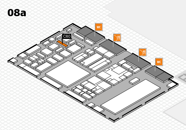 boot 2018 hall map (Hall 8a): stand C80