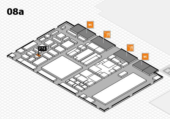 boot 2018 hall map (Hall 8a): stand F74