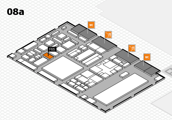 boot 2018 hall map (Hall 8a): stand F65