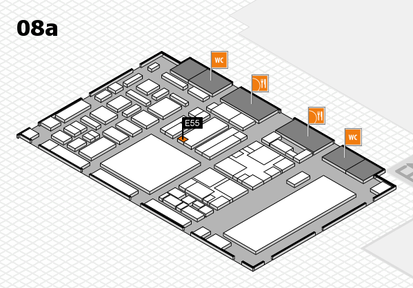 boot 2018 hall map (Hall 8a): stand E55