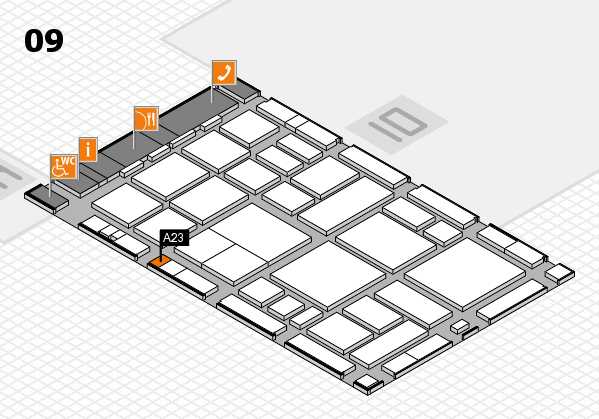 boot 2018 hall map (Hall 9): stand A23