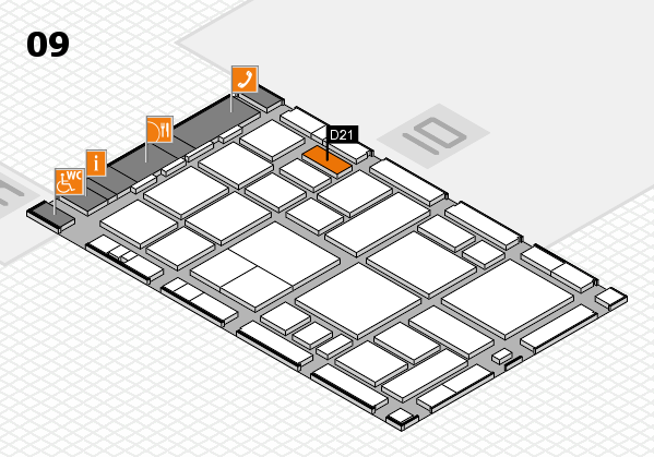 boot 2018 hall map (Hall 9): stand D21