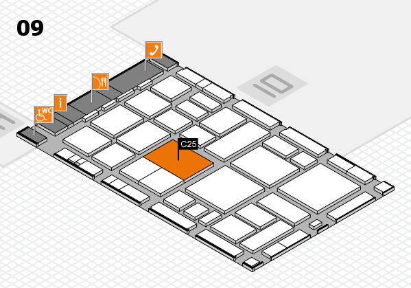 boot 2018 hall map (Hall 9): stand C25