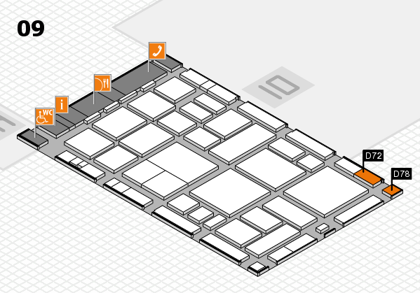 boot 2018 hall map (Hall 9): stand D72, stand D78