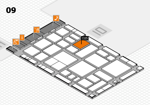 boot 2018 hall map (Hall 9): stand D25