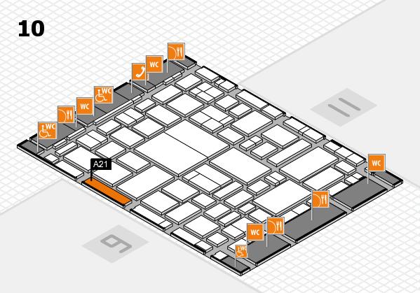 boot 2018 hall map (Hall 10): stand A21