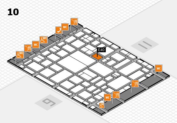 boot 2018 hall map (Hall 10): stand E40