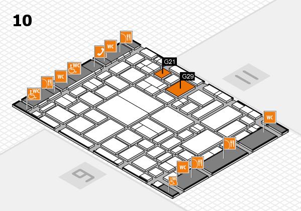 boot 2018 hall map (Hall 10): stand G21, stand G29