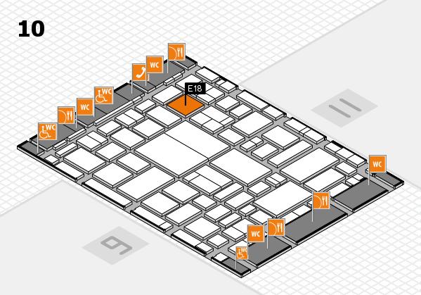 boot 2018 hall map (Hall 10): stand E18