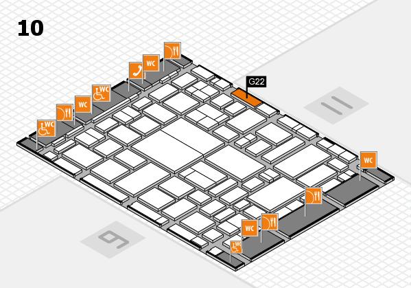boot 2018 hall map (Hall 10): stand G22