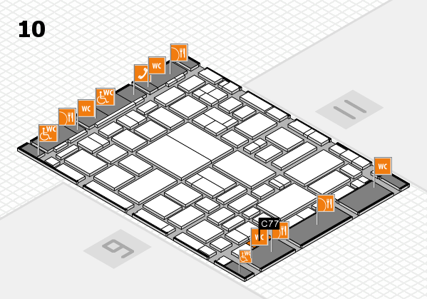 boot 2018 hall map (Hall 10): stand C77