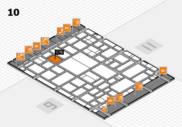 boot 2018 hall map (Hall 10): stand C18