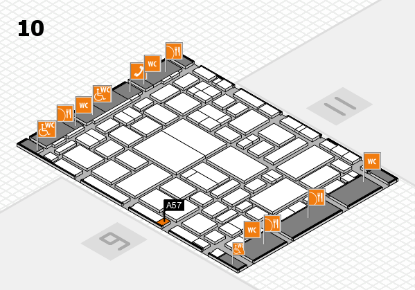 boot 2018 hall map (Hall 10): stand A57