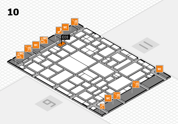 boot 2018 hall map (Hall 10): stand E03