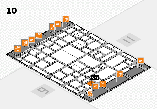 boot 2018 hall map (Hall 10): stand C73