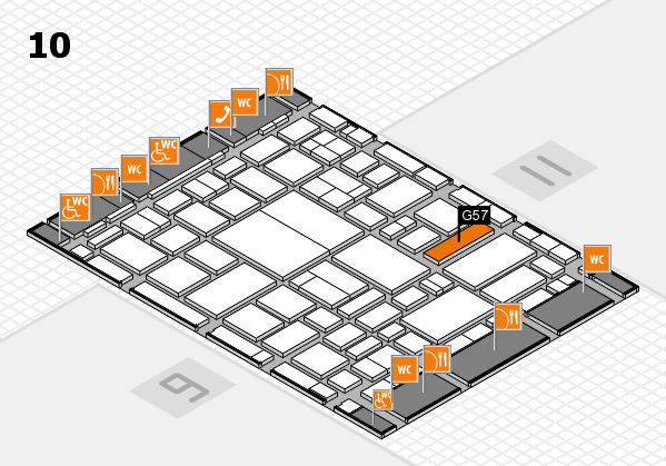 boot 2018 hall map (Hall 10): stand G57