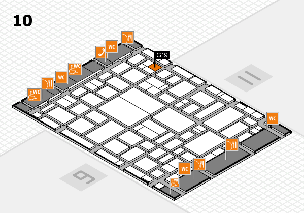 boot 2018 hall map (Hall 10): stand G19