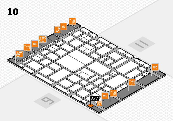 boot 2018 hall map (Hall 10): stand A77