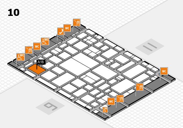boot 2018 hall map (Hall 10): stand A18