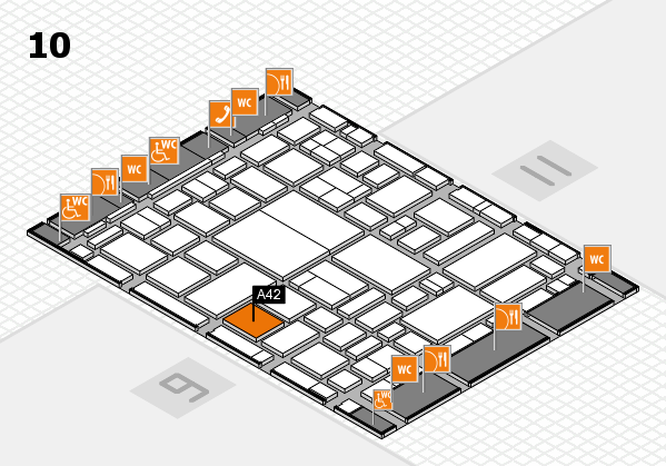 boot 2018 hall map (Hall 10): stand A42