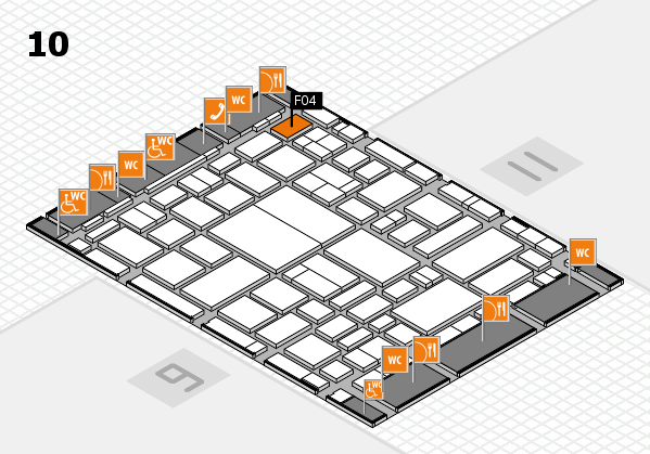 boot 2018 hall map (Hall 10): stand F04
