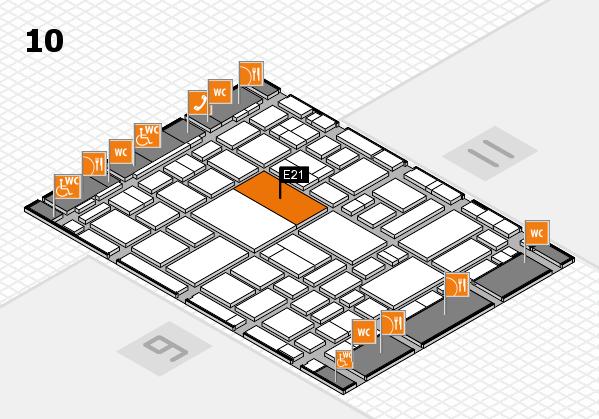 boot 2018 hall map (Hall 10): stand E21