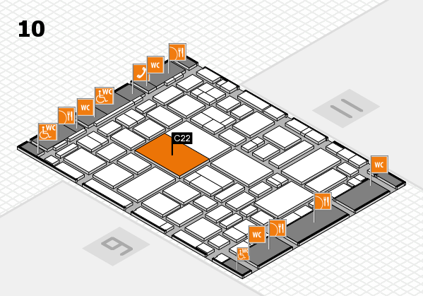 boot 2018 hall map (Hall 10): stand C22