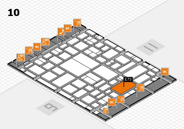 boot 2018 hall map (Hall 10): stand E73