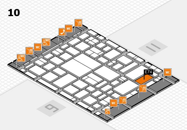 boot 2018 hall map (Hall 10): stand E74