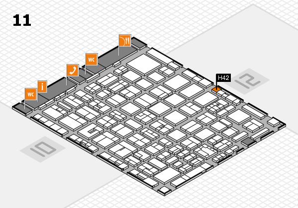 boot 2018 hall map (Hall 11): stand H42