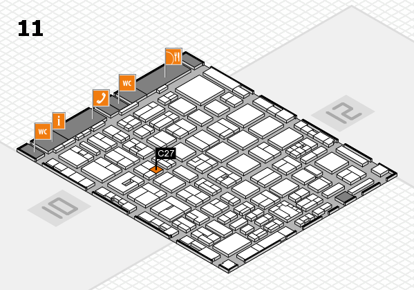 boot 2018 hall map (Hall 11): stand C27