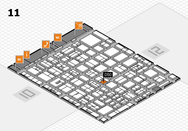 boot 2018 hall map (Hall 11): stand D50