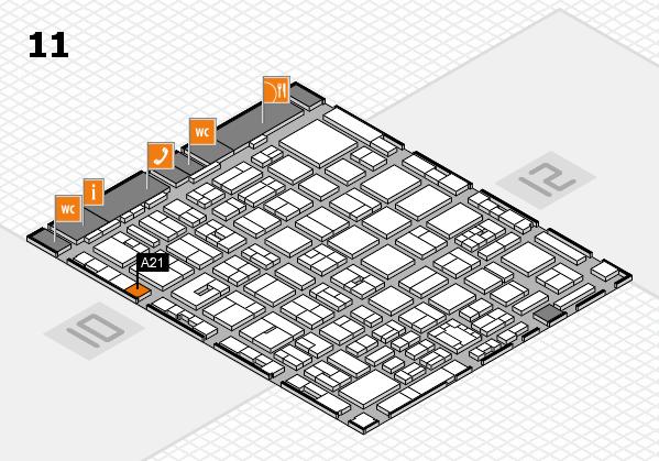 boot 2018 hall map (Hall 11): stand A21