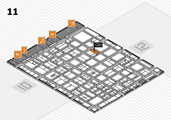 boot 2018 hall map (Hall 11): stand G25