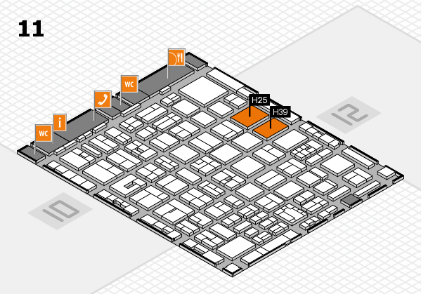 boot 2018 hall map (Hall 11): stand H25, stand H39