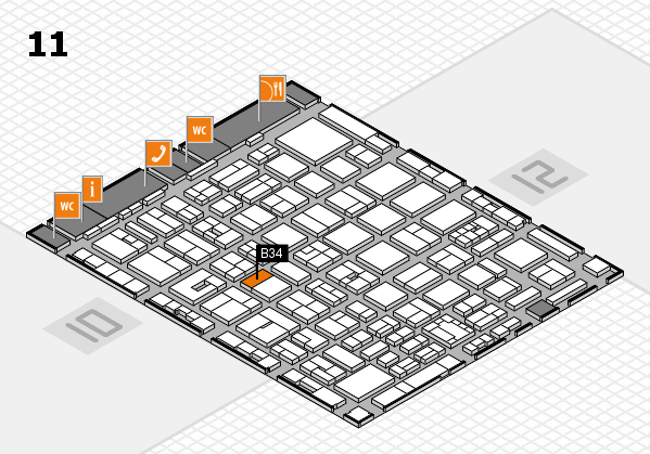 boot 2018 hall map (Hall 11): stand B34